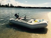 3.3 metre Inflatable with 9.8hp motor - complete set up Caloundra Caloundra Area Preview