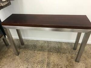 Designer Wood Metal Console Hall Table Set X 2 Coffee Tables