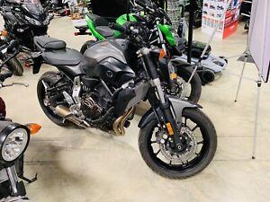 New 2015 Yamaha FZ07 MT07 ONLY 7km! $70 Bi-Weekly!