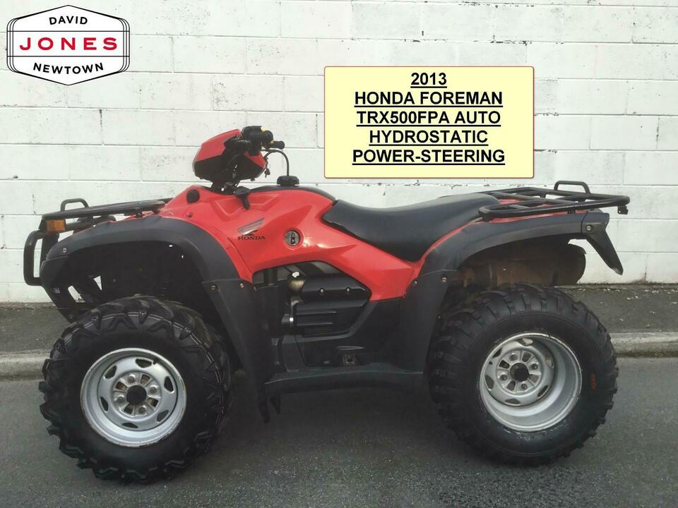 2013 HONDA TRX500 AT FPA AUTO P/S FOREMAN HYDRO 10 SPEED LOW BOX 4x2x4 QUAD ATV