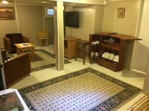 Furnished basement for rent
