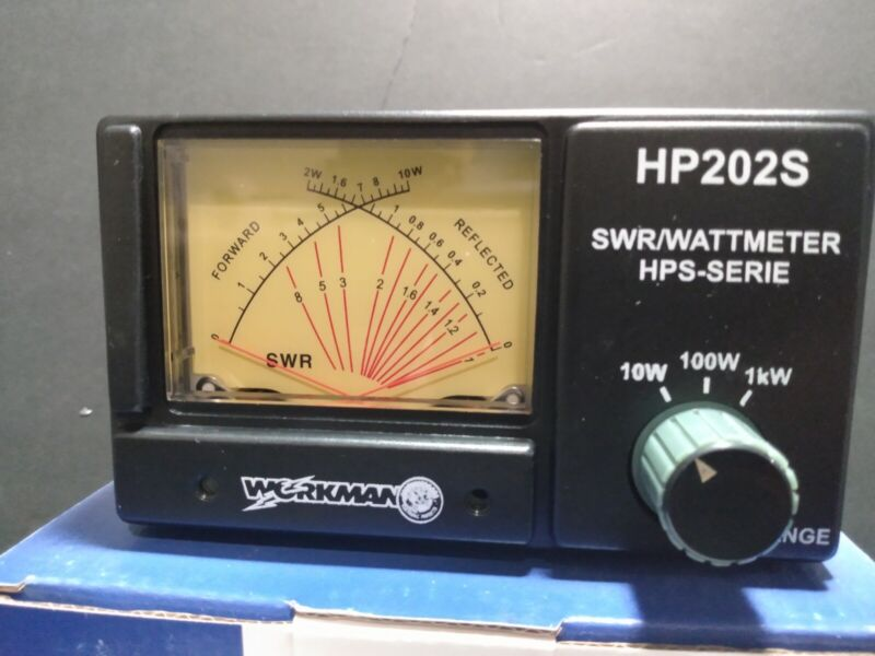 Workman 202S Average Power Reading and SWR Meter 10/100/1000 Reads Like A Bird