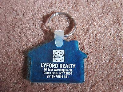 Glens Falls NY Key Ring Keychain  LYFORD REALTY ERA Collectible House shaped - House Shaped Key Ring