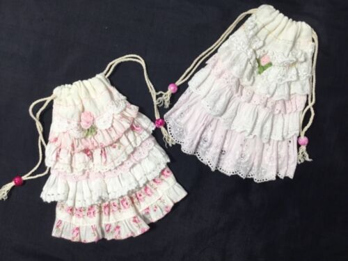 2 HM Flour sack HM Gift pouches Pretty and perfect for gifting cards, jewelry