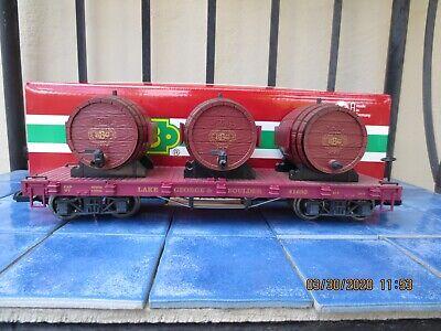 LGB 41693 LGB Flatcar with Barrels ,kegs, metal wheels