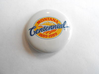 Cool Vintage 1989 Montana State Centennial Celebration Promo Souvenir Pinback