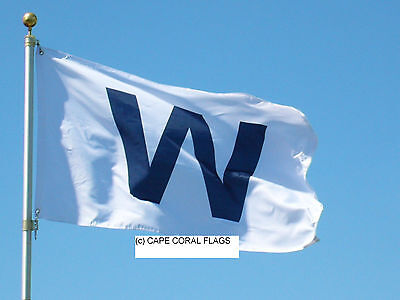Chicago Cubs  W  Win Flag Mlb 3 X 5
