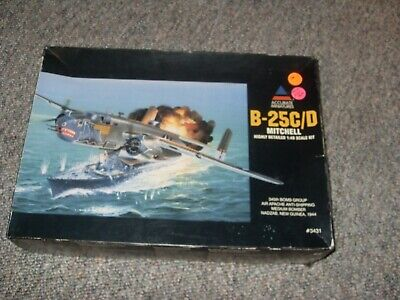 Accurate Miniatures 1/48 B-25 C/D Mitchell, sealed inside, Pacific strafer