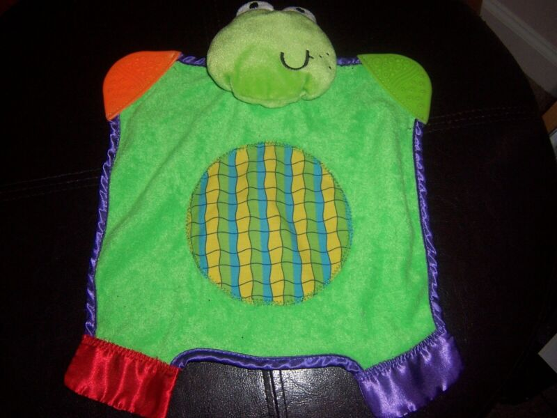 Infantino teething frog  Baby  Lovey Security Blanket Lovely