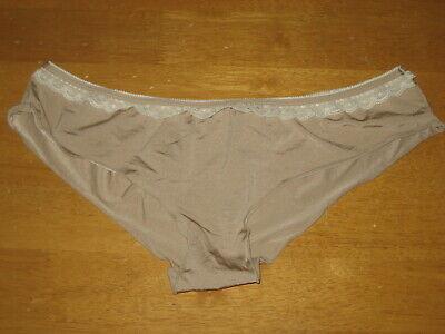 New HONEYDEW Lace Trim Stretch Nylon Bikini Panties M Nude CUTE
