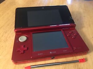 Flame Red 3DS + Extras