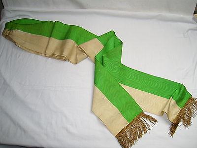 alte große Fahnenschleife , Grün-Weiß , ohne Aufdruck