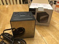 Sony ICF-C1T AM/FM Dual Alarm Clock Radio - Mirrored Face - AM / FM -FAST SHIP!!