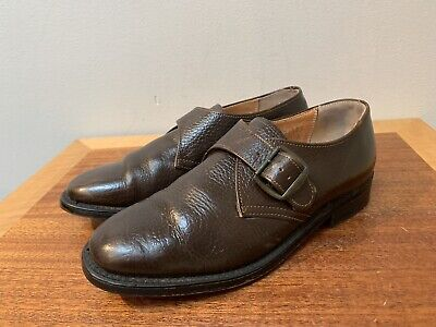 Vintage STRIDE RITE Pebbled Leather Monk Strap Dress Shoes Boys 2.5 High Quality Pebbled Leather Kids Shoes