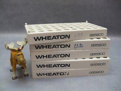 Vial Rack 985800 Wheaton Holds 50 Vials 1.25cm Vial Diameter Lot Of 5
