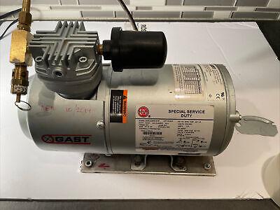Tested Working Lightly Used Gast 1hab-10a-m223x Piston Air Compressor 115vac