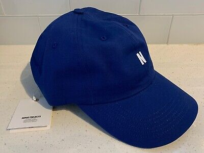 NWT Norse Projects Twill Sports Cap Twilight Blue Made In USA $100