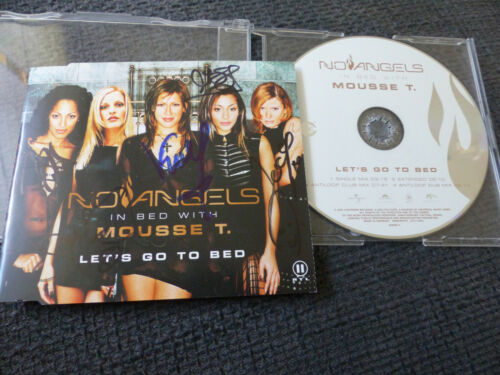 """NO ANGELS signed Autogramm auf """"LET´S GO TO BED"""" CD InPerson LOOK"""