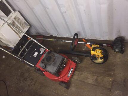 rover 4stroke keystart mower kawasaki whipper snipper &blower $249
