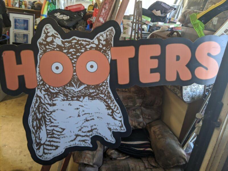 """Hooters Sign Vintage Retro Owl Original SUPER RARE 6FT X 47"""" Bar Man Cave HANGUP"""