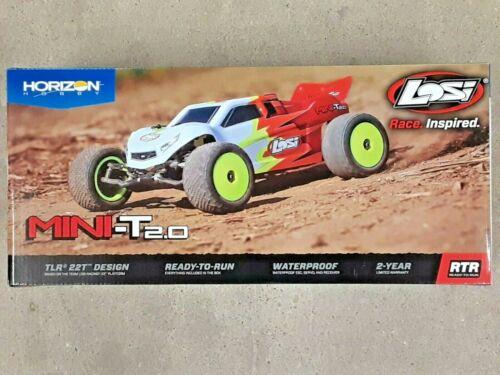 Losi Mini-T 2.0 1/18 RTR 2wd Stadium Truck (Red/White) LOS01015T1 Brand New!!
