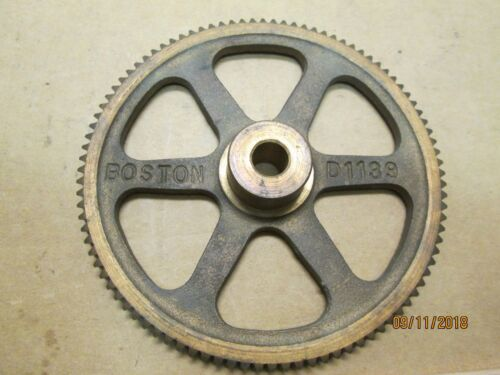 """NEW OTHER, BOSTON D1139 BRONZE WORM GEAR, 24 PITCH, 96 TEETH, 3/8"""" BORE."""
