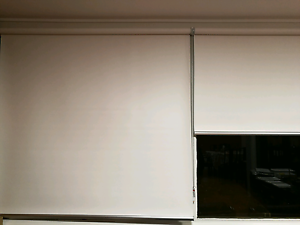 6 months old off white roller blinds opaque x 3 North Manly Manly Area Preview