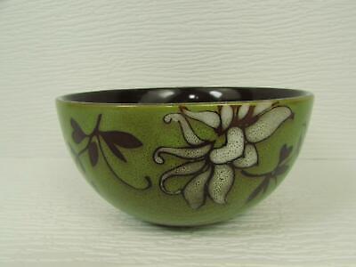 Flower Soup Bowl - Mirabel Green by American Atelier Soup Bowl Green White Flower Brown Leaves b270