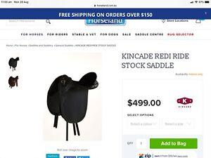 Kincade Saddle - fully mounted