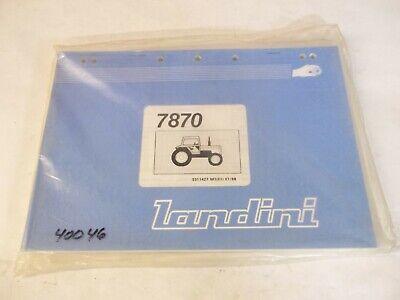 Landini 7870 Tractor Parts Book