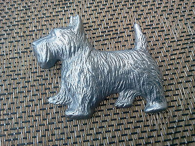 HOUSE PET PUREBRED DOG 1 SCOTTISH TERRIER FASHION PIN Pewter. MADE IN U.S.A. NEW