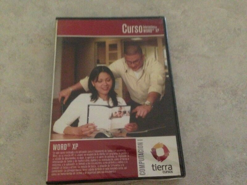 Curso Interactivo de WORD XP! Tierra Cursos Computer Software Instruction CD-ROM