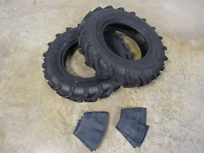 Two New 7.50-16 Bkt As-504 Farm Tractor Lug Tires With Tubes 8 Ply