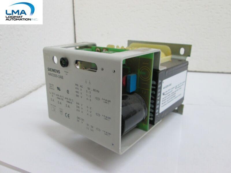 SIEMENS 4AV2200-2AB POWER SUPPLY 400V 230V TRANSFORMER 5A