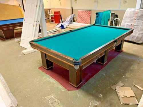 """Brunswick Snooker Table """" WILMINGTON """" 1923 6 LEG 5 x 10 Antique Rare Collector"""
