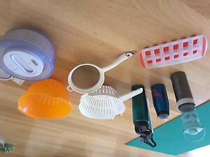 Colanders, salad spinner, stainless sleet and glass water bottle West Perth Perth City Area Preview