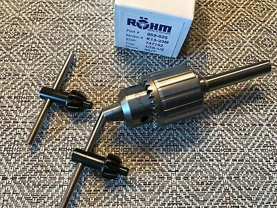 Rohm Drill Chuck Made In Germany 116-12 Capacity 12 Straight Arbor