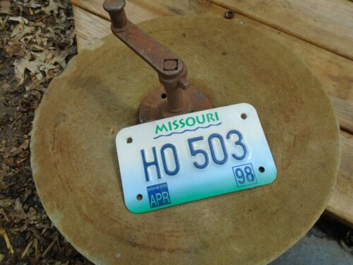Vintage 1998 Missouri Motorcycle License Plate # H0 503
