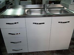 lavello cucina inox 120 cm 2vasche + gocc. con sottolavello e ... - Sottolavelli Cucina