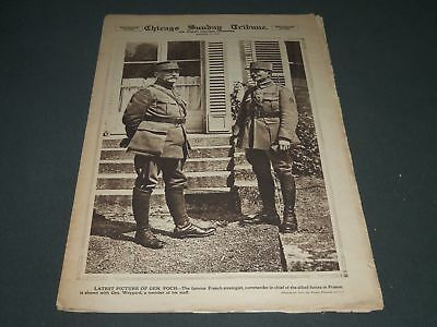 1918 August 11 Chicago Sunday Tribune Roto Section   General Foch   Np 2578