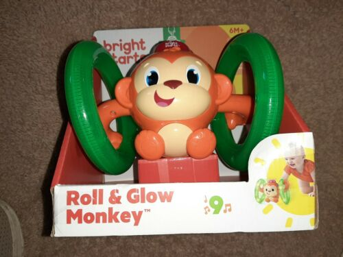 Bright Starts Baby Light Roll and Glow Monkey