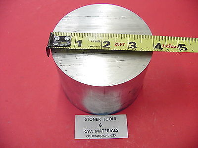 4 Aluminum 6061 Round 6061 Bar Rod 3.00 Long Solid Lathe Bar Stock 4.00 Od