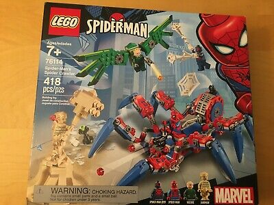 LEGO SPIDERMAN SPIDER CRAWLER #76114, 418 PIECES BUILDING TOY, NEW, MARVEL