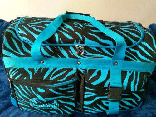 Dream Duffel Bag Competition Dance Recital Pageantry Cheer Black Blue Zebra Med