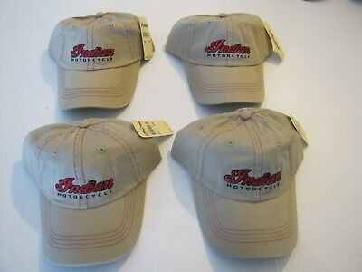 """ 4 "" INDIAN MOTORCYCLE BALL CAP LOW PROFILE HAT - BUNDLE OF "" 4 "" HATS TOTAL"