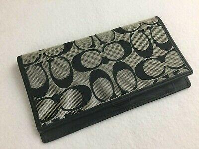 COACH C  Checkbook Holder Wallet Canvas (W1)