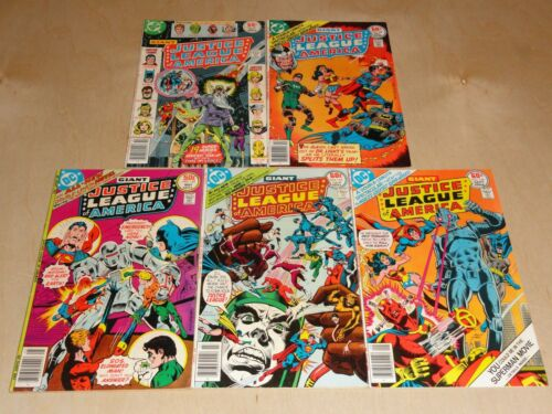 Justice League of America 142,144,146,147,149, (1977) DC