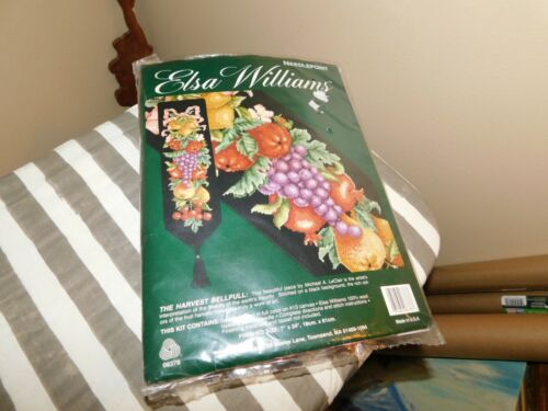 Elsa Williams Needlepoint Kit Harvest Bellpull  Unopened