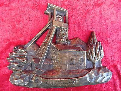schöne ,alte Bronze__Bronze - Relief__Zeche__Bergbau__Glück Auf__ !