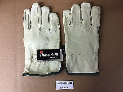 Set Of Premium 3m Thinsulate Industrial Leather Work Gloves 100 Gram Medium
